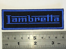 Lambretta SMALL BAR (Blue Text/Border) Patch - Embroidered - Iron or Sew On