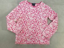 Girl Gap Long Sleeve Shirt Size 5-6 S Pink White Floral