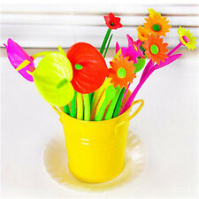 6pcs/lot New Style Popular Stationery Gift Lovely Flowers Grass Gel Pen Sign w w