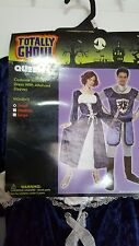 New Womens Totally Ghoul Medieval Queen Halloween Costume Sz S