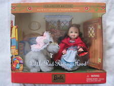 Barbie Kelly Little Red Riding Hood and Wolf ..New In The Box!!!