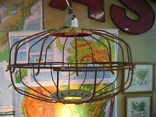 Repurposed Chicken Poultry Feeder Metal Steampunk Industrial Light Lighting