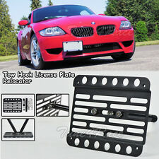 For 02-08 BMW Z4 M-Sport E85 Front Tow Hook License Plate Relocator Bracket New