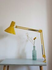 Vintage Danish Yellow HCF 20th Century Modernist Clamp Anglepoise Desk Lamp