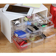 Storage Organizer Cabinet 9 Plastic Drawer Boxes Parts Container Bin Toy Gadget