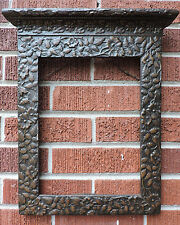 Antique AESTHETIC MOVEMENT Victorian Tabernacle Brown PICTURE FRAME 9 x 12 c1890