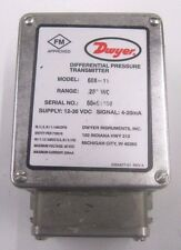"Dwyer 608-11 Differential Pressure Transmitter .25"" WC 12-36 VDC"