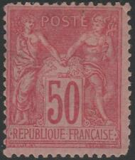 """FRANCE STAMP TIMBRE N° 98 """" TYPE SAGE 50c ROSE """" NEUF x TB A VOIR"""