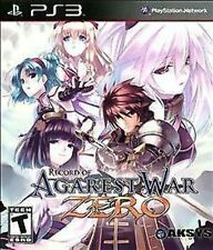 Record of Agarest War Zero USED SEALED (Sony PlayStation 3, 2011)