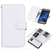9 Slot Credit Card ID Holder Cash Wallet PU Leather Book Case Cover For Phones