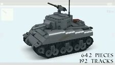 Lego WW2 M4A1 Sherman American Tank Allies Custom 100% real LEGO 7622 7620 7626