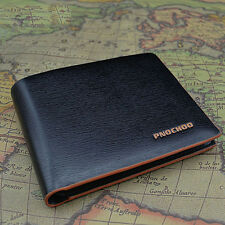 Men's PU Leather Bifold Credit/ID Cards Holder Slim Wallet Case Pouch Newest