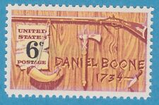 DANIEL BOONE RIFLE POWDER HORN PIPE KNIFE FOLKLORE 1968 STAMP UNUSED POSTAGE MNH