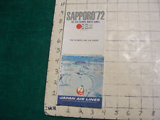 Vintage High Grade AIRLINE brochure: JAPAN AIR LINES--sapporo '72 olympic games