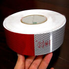 3M Safety Warning White Red Car Truck Reflective Conspicuity Roll Sticker Tape