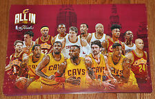 CLEVELAND CAVALIERS CAVS Championship Poster from NBA Finals Watch Party 2016