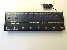 Carl Martin Combinator 2 True Bypass 8 Channel Effects Pedal Looper Power Supply