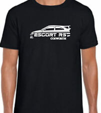 Classic Ford Escort RS Cosworth Retro Silhouette T Shirt S/M/L/XL/XXL BN