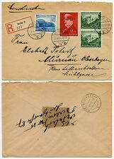 GERMANY 1941 REGISTERED MULTI FRANKING 3rd REICH FUND STAMPS