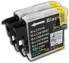 2 Compatible Black LC985 (LC39) Ink Cartridges for Brother MFC-J265W Printer