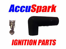 HT lead Spark plug boot 90 Deegrees  push fit boot and contact