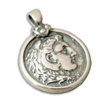 Alexander the Great Tetradrachm - Sterling Silver Coin Pendant