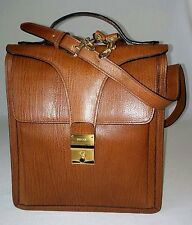 *MINT* BALLY TEXTURED LEATHER MEN'S/UNISEX MESSENGER BAG BROWN MADE IN ITALY