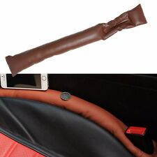 1PCS Brown Car Seat Pad Gap Space Filler Soft Stop Drop Catcher Holster Blocker