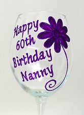 Personalised 60th Birthday Gifts Wine Glass Champagne Flute 21st 30th 40th 50th