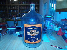 "20""  VINTAGE 5 GALLON HARLEY DAVIDSON OIL CAN STYLE JUG WITH  N.O.S. STICKER"