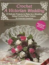 Crochet a Victorian Wedding Pattern Book Cake Top Bible Cover Ring Pillow Garter