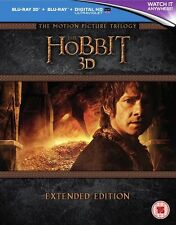 The Hobbit Trilogy Extended Edition 15 Disc Box Set (3D + 2D Blu-ray + UV)  NEW