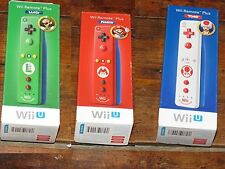 Official Nintendo Wii Remote Plus Mario, Luigi, Toad Wii U Lot