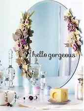 "Hello Gorgeous Vinyl Mirror Decal, Mirror sticker, 10"" X 2.5"""