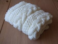 Knitting pattern- Braided Cable Baby Blanket / Basket stuffer / Lap Blanket