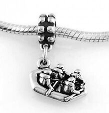 STERLING SILVER DANGLING RIVER RAFTING EUROPEAN BEAD