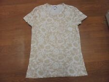 Old Navy beige & white floral t-shirt size S