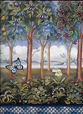 Garden of Eden-Fruit Trees, Flowers, Butterflies Extra Wide WALLPAPER BORDER