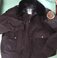 HORACE SMALL TUFFY Fire Dept PATROL JACKET FUR COLLAR SHINY BLACK 50R