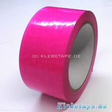 NEON PVC Nastro adesivo Fucsia 50mm x 66m FLUO luminoso flash Colore 52mμ