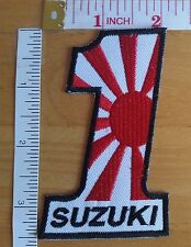 Suzuki Rising Sun Embroidered iron on patch badge applique motorcycle sport