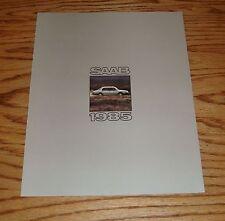 Original 1985 Saab Full Line Foldout Sales Brochure 85 Turbo 900S 900