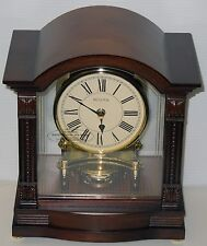 BULOVA - BARDWEL - CONTEMPORARY MANTEL CLOCK  WOOD CASE/HIGH GLOSS FINISH  B1987
