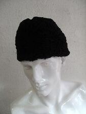 REFURBISHED NEW BLACK PERSIAN LAMB FUR HAT FOR MEN MAN