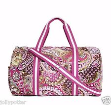 VERA BRADLEY Round Duffel VERY BERRY PAISLEY Tote Bag Yoga Travel Carry On $96