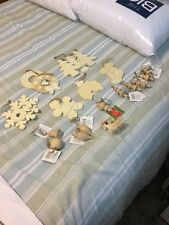 Lot Of 21 Ready To Paint Christmas Wooden Ornaments