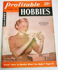 Profitable Hobbies Magazine How To Market What You Make September 1952 !