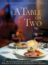 A TABLE FOR TWO MENUS AND MUSIC GOURMET RECIPE COOKBOOK & JAZZ CD BY S. O'CONNOR