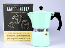 "Espressokocher Espressomaker ""Macchinetta"", traditionell, 6 Tassen, Mint, hot!"