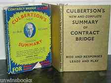 CULBERTSON'S SUMMARY of CONTRACT BRIDGE 1936 Ely Culbertson HARDBACK Card Game